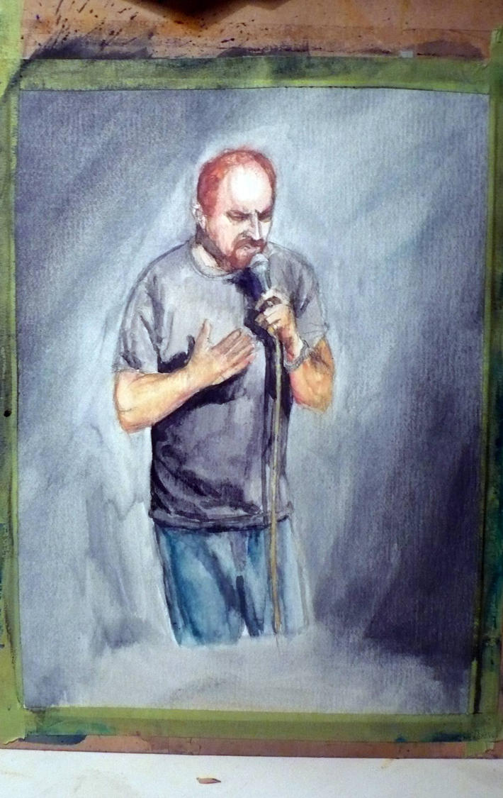Louis CK watercolor by thewalkingman