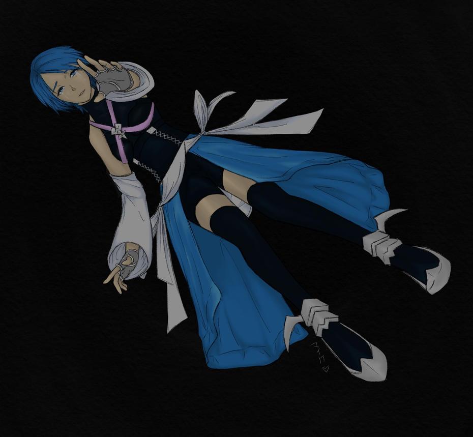 Kingdom hearts - Aqua by Miyuki-Hawkeye07