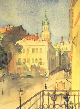 Rynok Square from Balcony