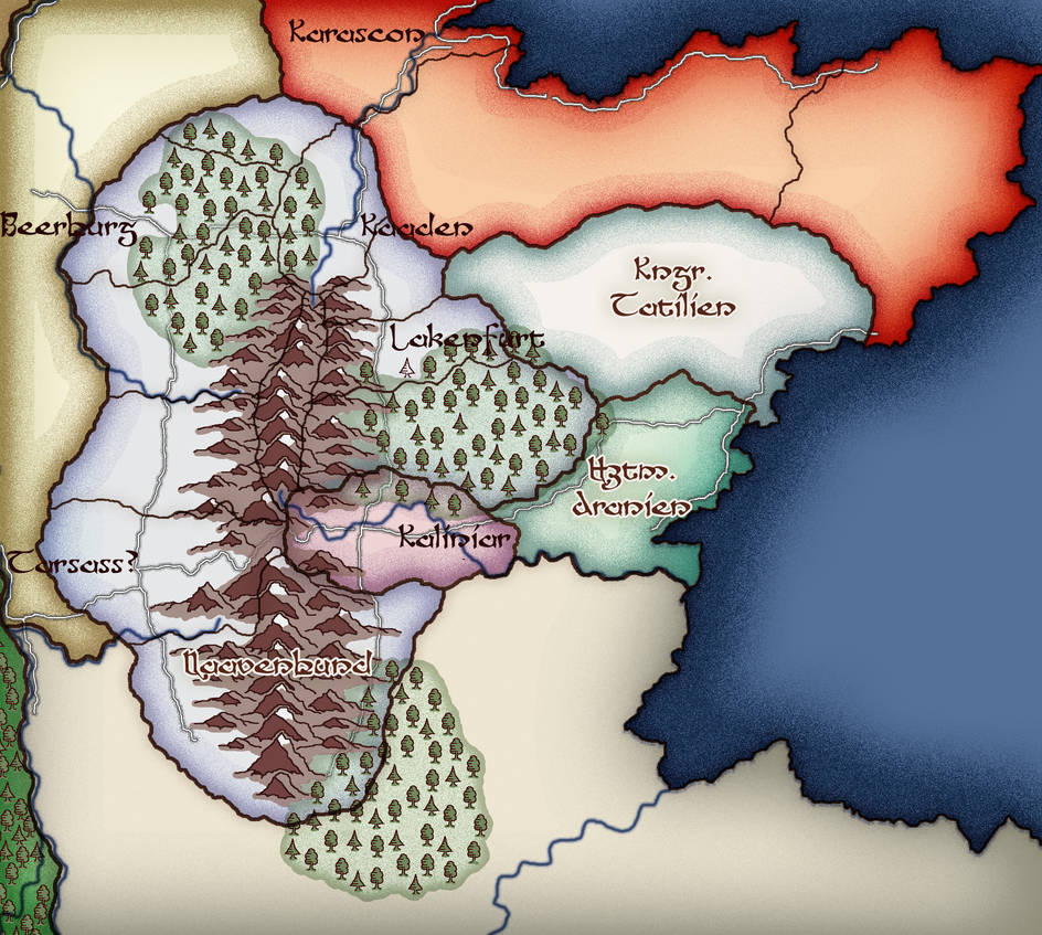 Kalandria - Preview of World Map