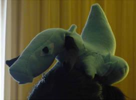 Custom Flail plushie -on my head