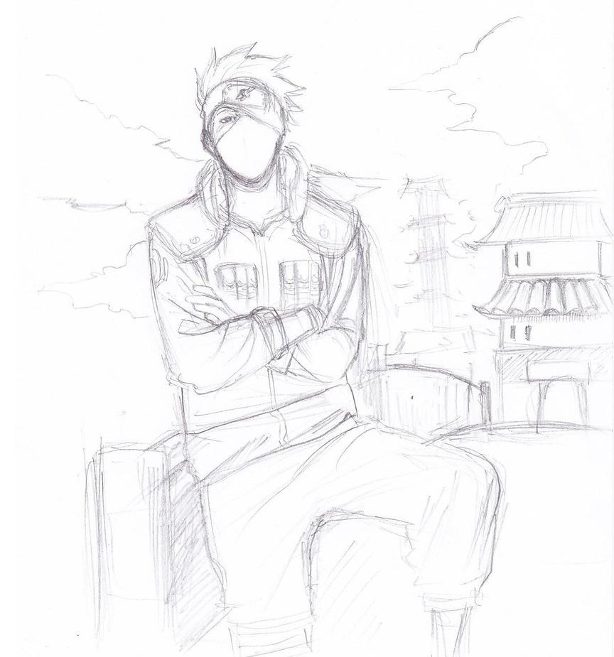 kakashi sketches - 863×925