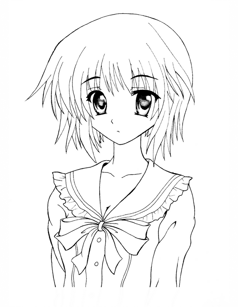 Line Drawing In Photo : How to color anime tutorial lineart w download by