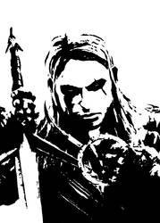 Geralt of Rivia. by Tebaum