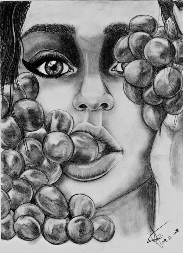 Grapes girl by ichi-ju