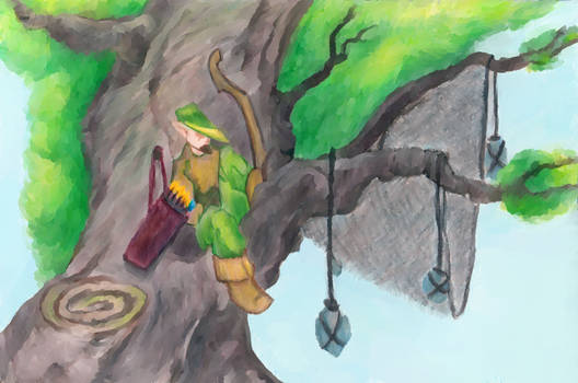 Archer in a tree