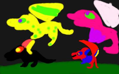 Art trade with Rainbow Terrawing sweetwing porkra by RainbowDragons123