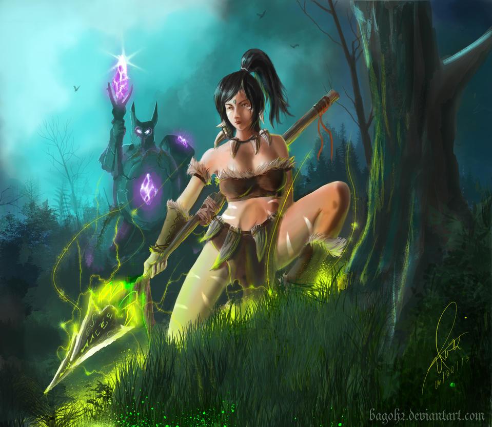 Nidalee fan art by bagoh2
