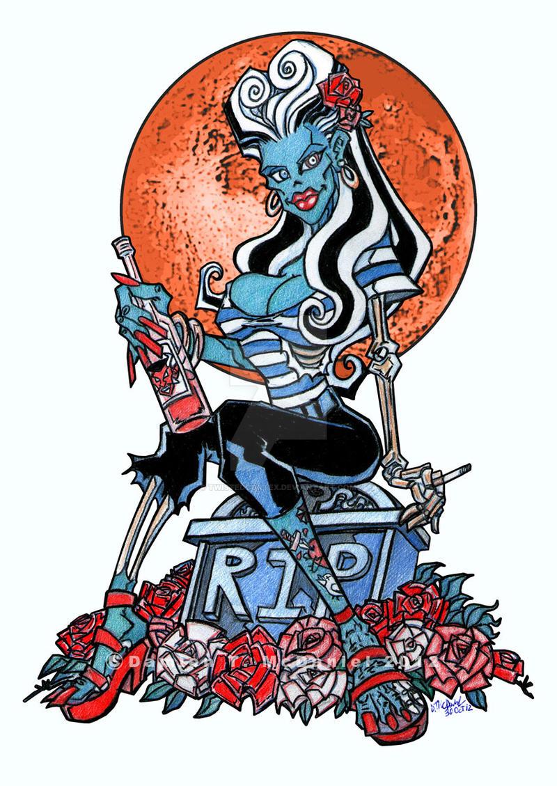 Rockabilly Zombie Girl by twistedcortex on DeviantArt