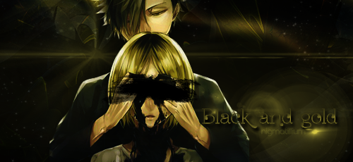 [signature] black and gold by nigmatillium