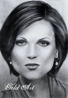 Lana Parrilla Speed Drawing by ArtGoldArt