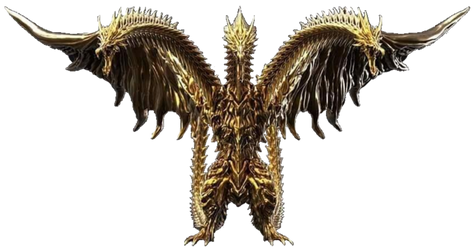 Anime King Ghidorah Full Body Transparent Ver. 6 by Lincolnlover1865