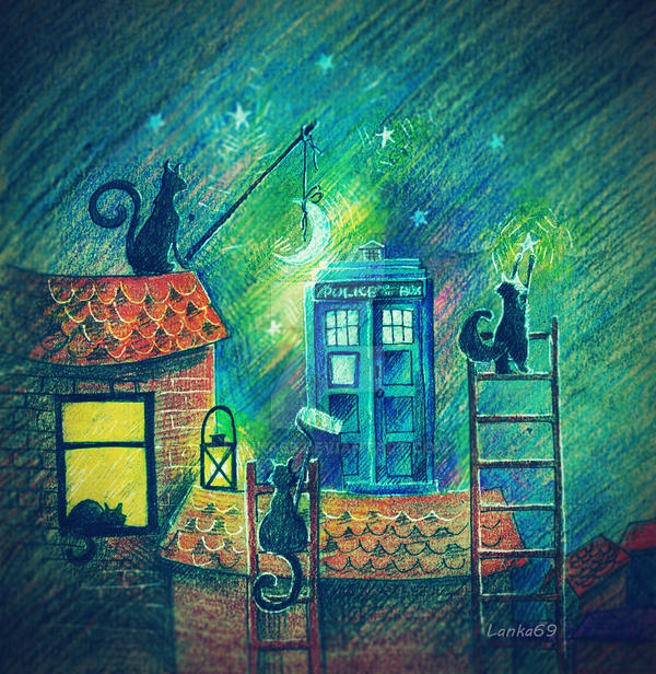 Tardis and cats by Lanka69