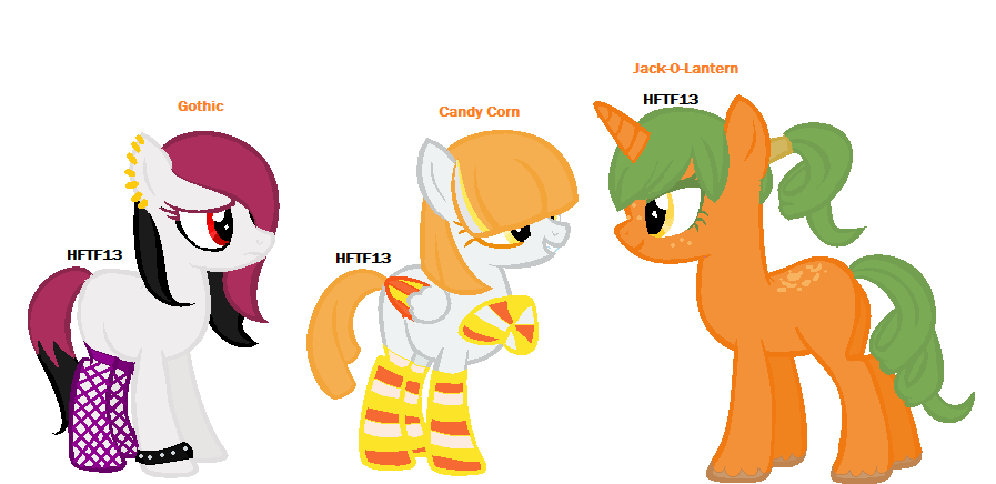 :CLOSED: Halloween Themed Pony Adopt :Part 1 of 2: by HopeForTheFuture13