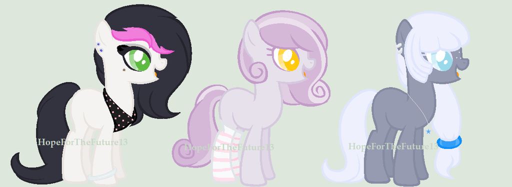 :CLOSED: DTA Ponies :ALL SPOTS RESERVED: by HopeForTheFuture13