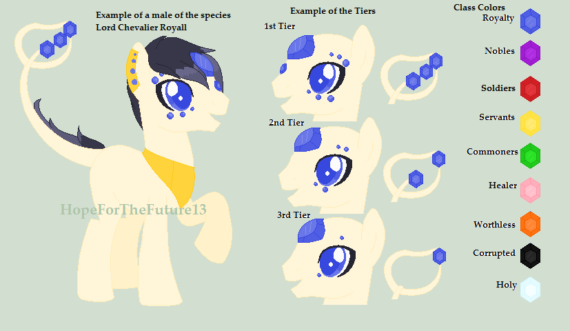 :Mlp Original Species: Regal Gem Ponies :Info: by HopeForTheFuture13