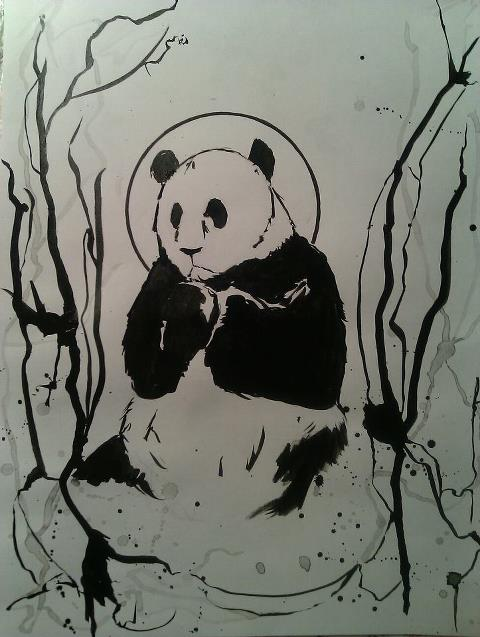 Holy panda by ninaarichi
