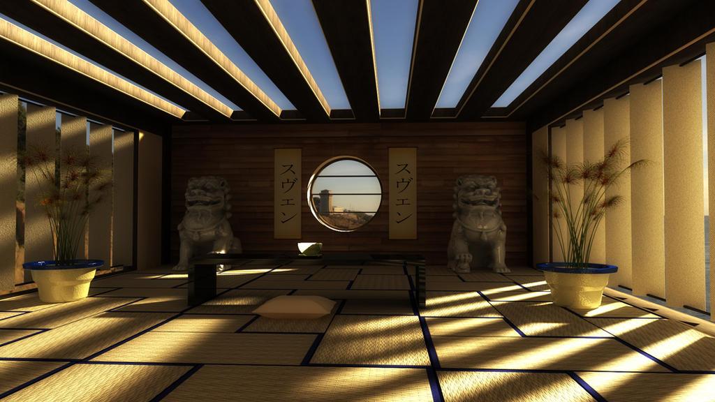 Asian Meditation Room by svenndesign on DeviantArt