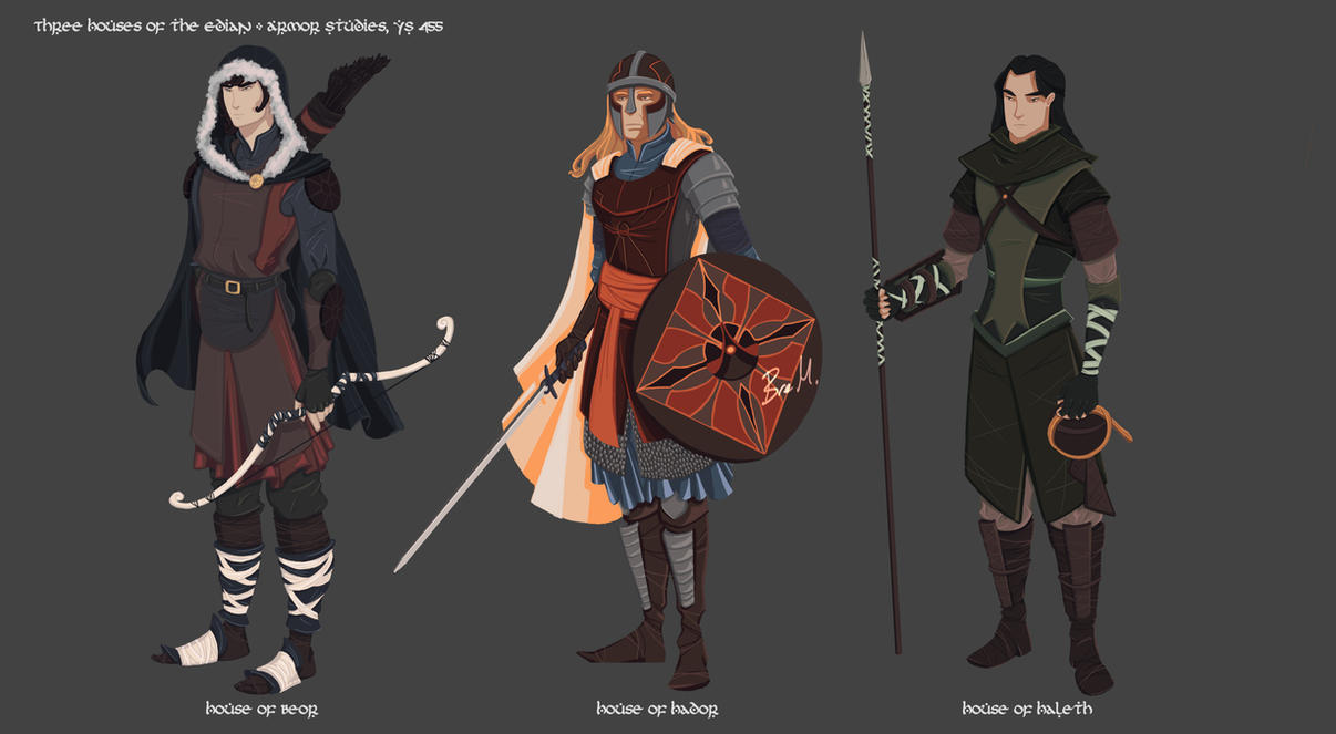 The Three Houses of the Edain by 89ravenclaw