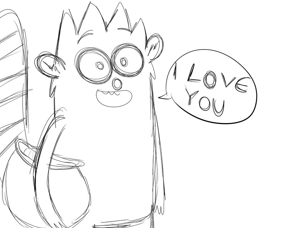 Rigby loves u by LotusTheKat
