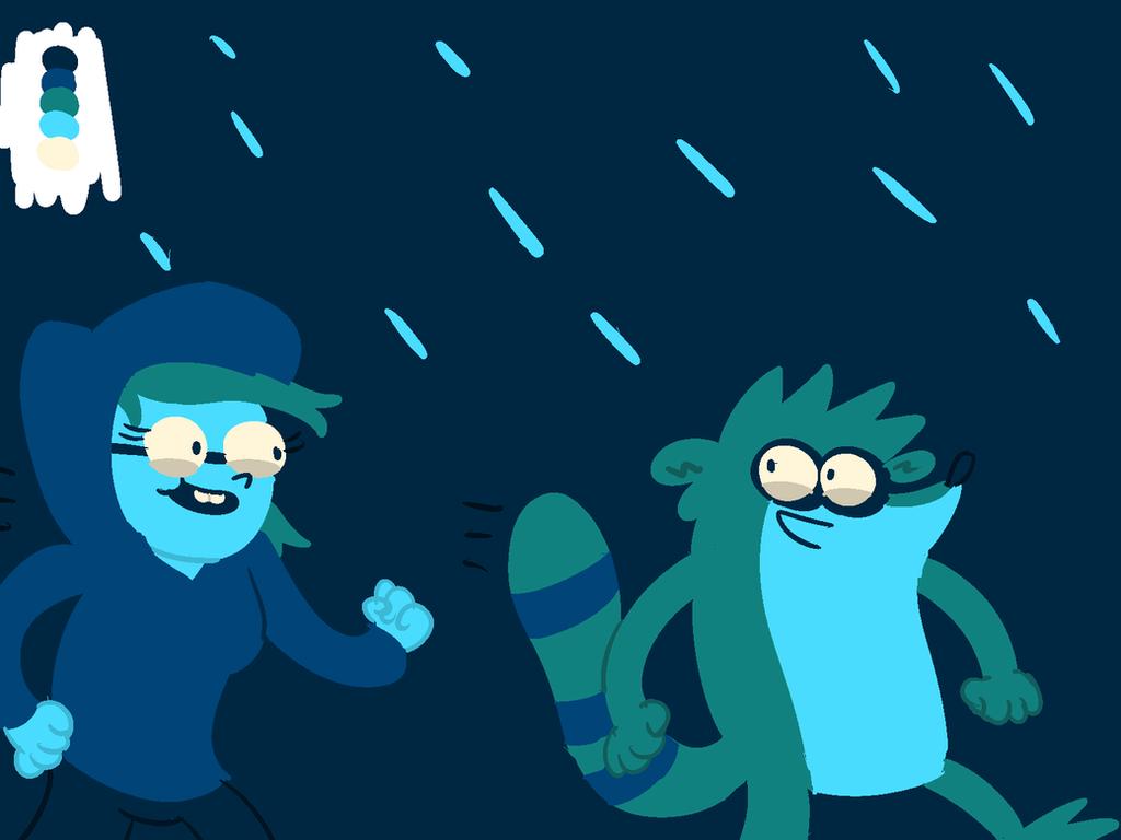 Rigleen in the rain by LotusTheKat