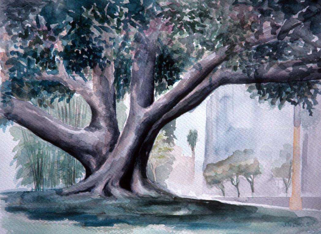 Banyan Tree Painting Banyan Tree by