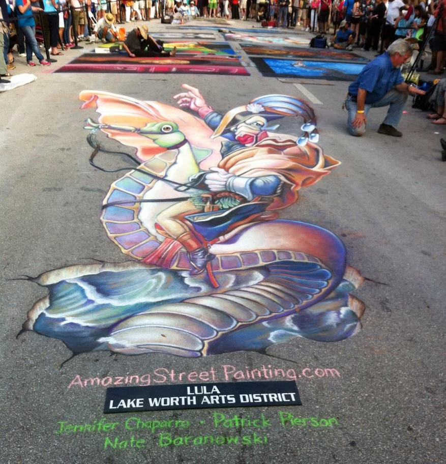 Napoleon Bonafish Lake Worth Festival 2015 by AmazingStreetPaint