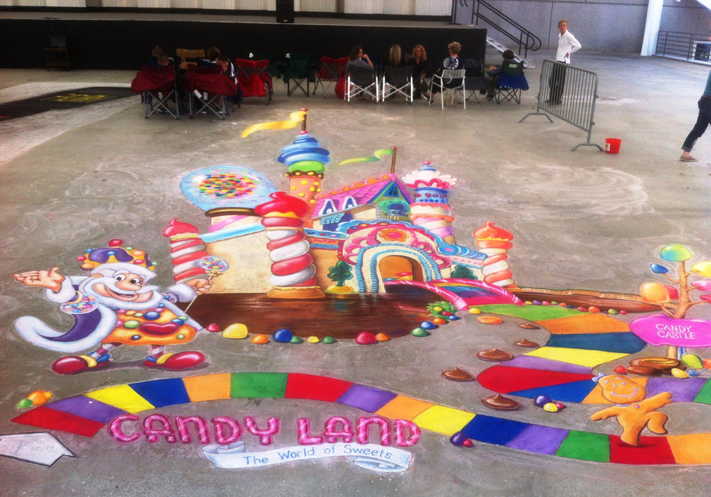 Candy Land Castle by AmazingStreetPaint