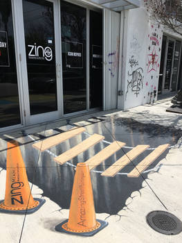 3D street painting for Zing Miami