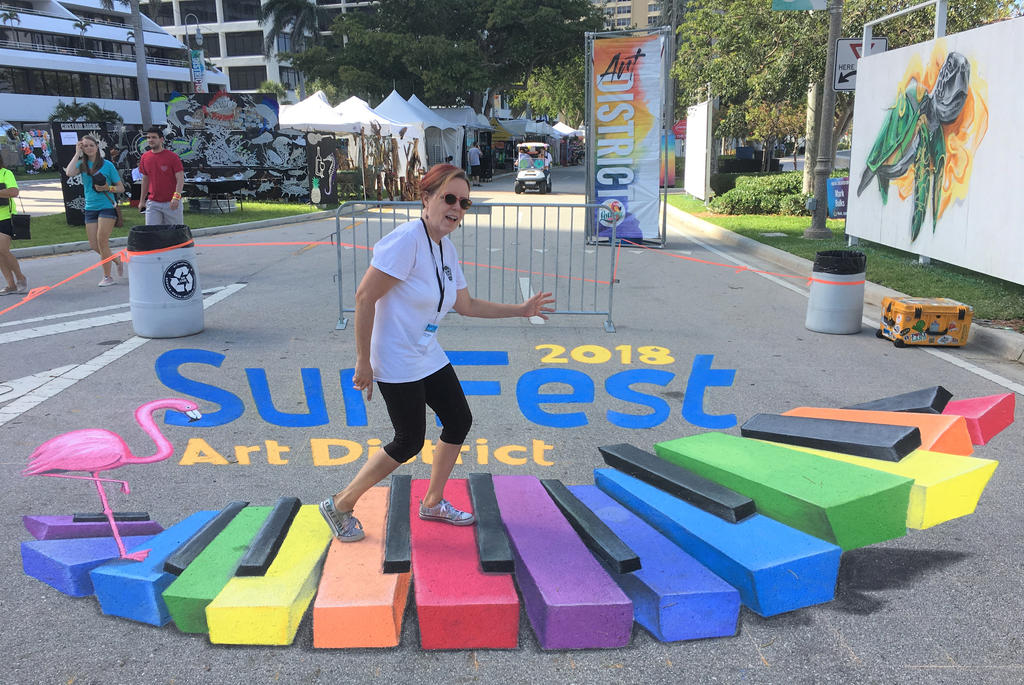 Sunfest Street Painting 2018 by AmazingStreetPaint
