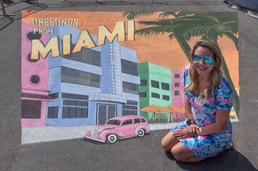 3D Street Painting at Miami Open 2019