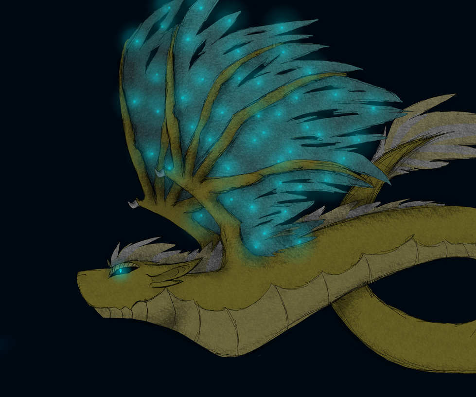 Star wing dragon- No background by wolftail1999