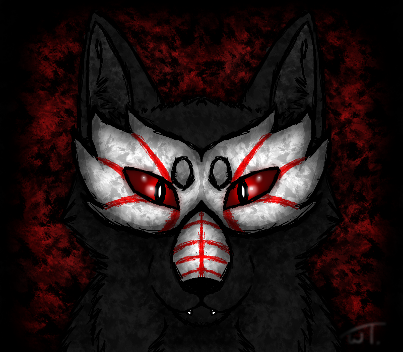 Grimm Wolf's second form mask by wolftail1999