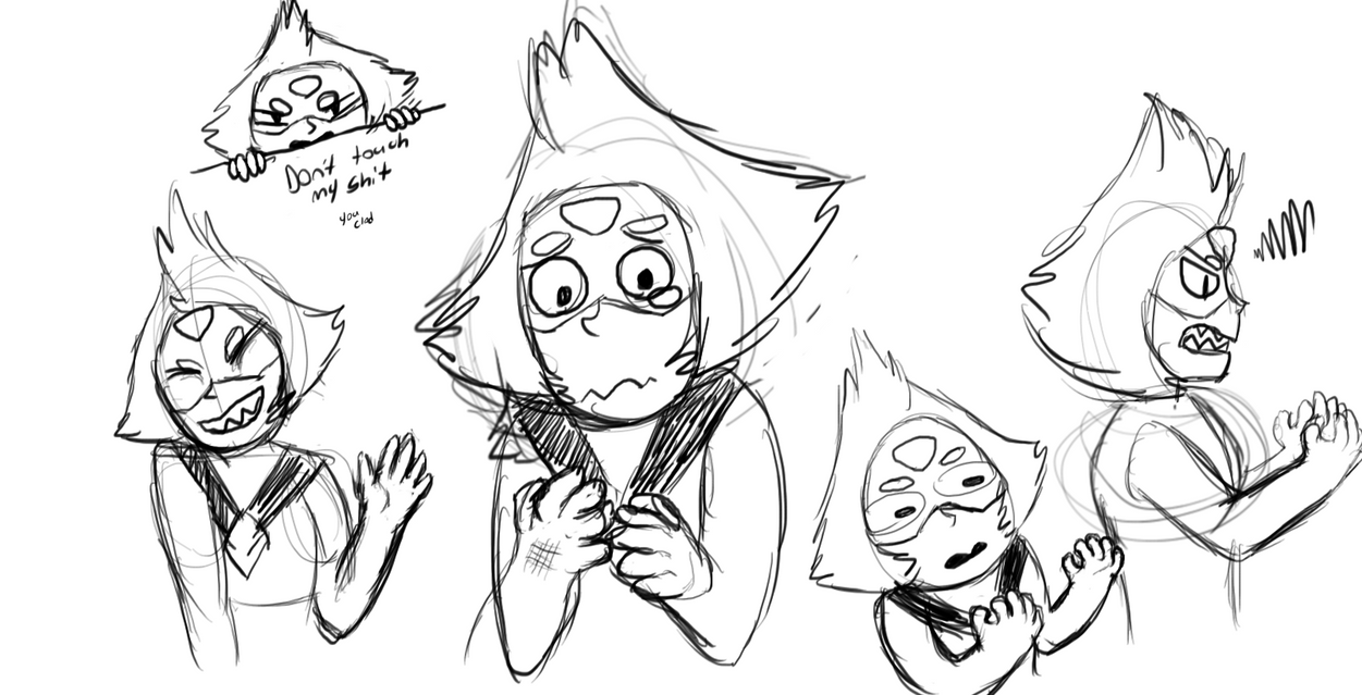 Peridot + Hand practice =  Crude sketches by wolftail1999
