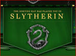 SORTED INTO SLYTHERIN