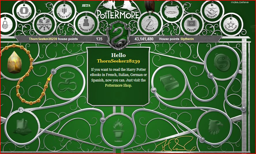 Slytherin Pottermore Homepage Wallpaper