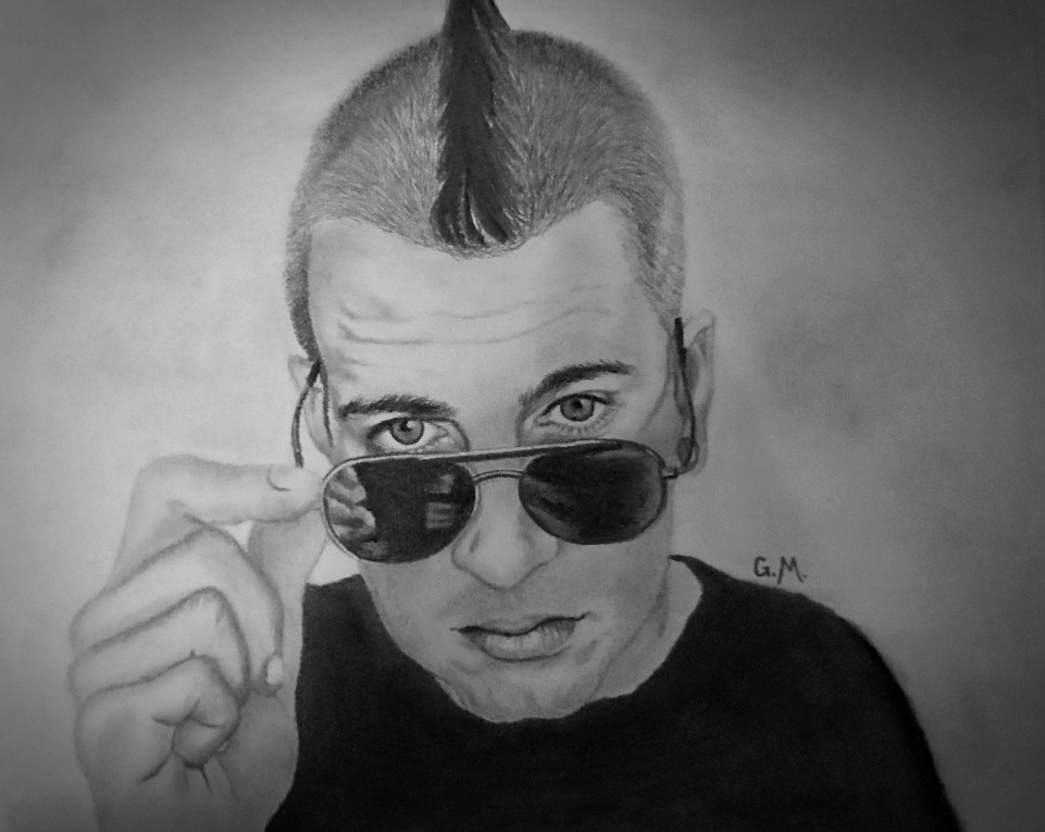 M  Shadows Portrait, pencil- age 22 by GabbityGabby on
