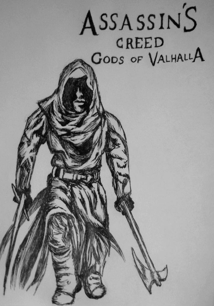 Assassin S Creed Sketch Pen Age 23 By Gabbitygabby On Deviantart