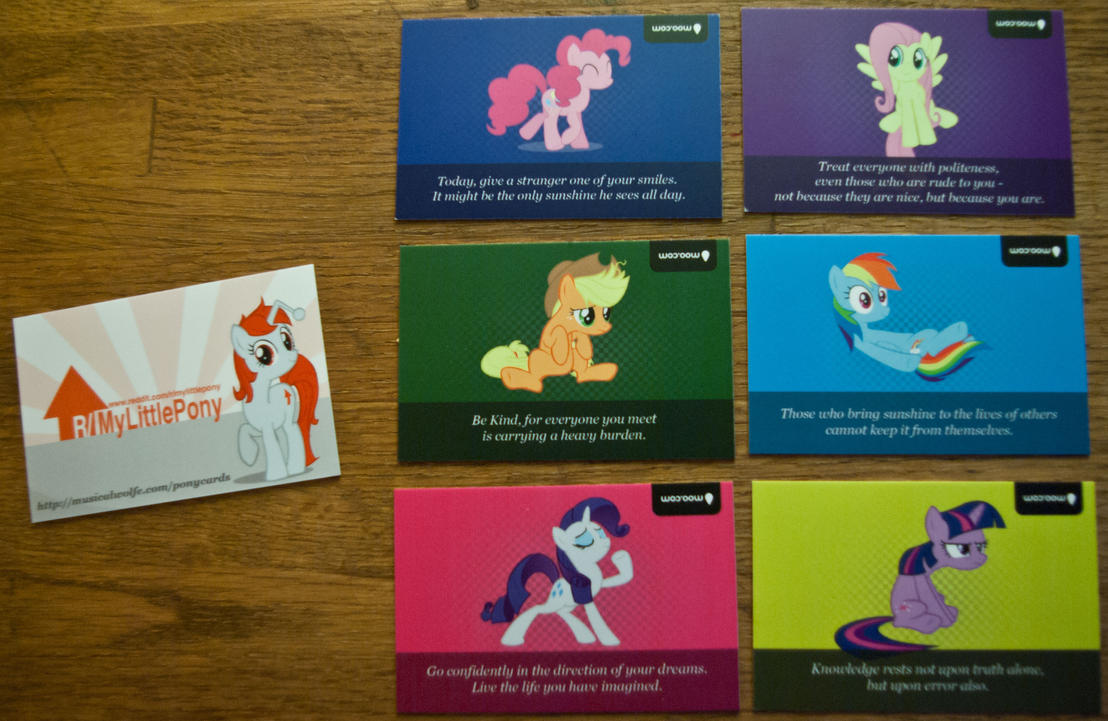 Inspirational Pony Quote Cards Mlp Fim By Musicalwolfe On Deviantart