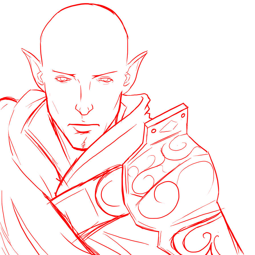 Solas Sketch by DerP3ter