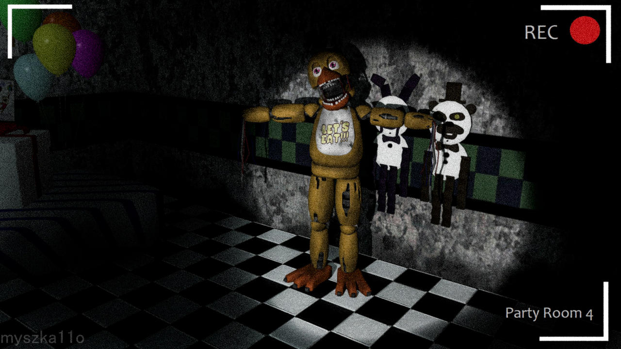 Gmod Withered Chica In Party Room 4 By Myszka11o On