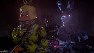 When you're playing with Plushtrap (SFM Wallpaper)