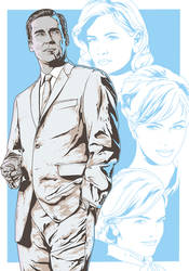 Mad Men alternative movie poster art by harijz