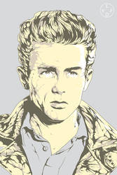 James Dean poster art by harijz