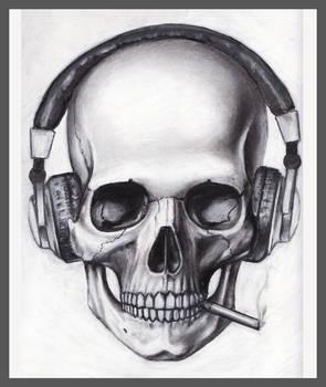 Skull Headphones Cigarette