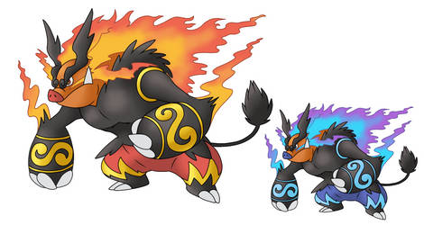 Mega Emboar (Fan coloration)
