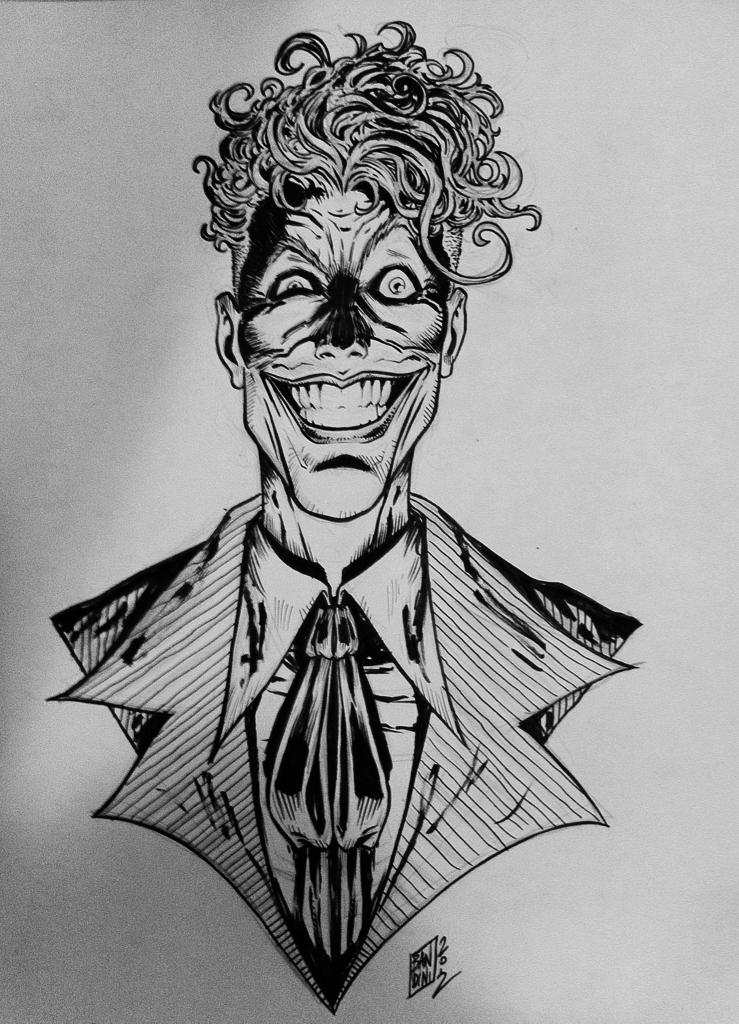 Joker tattoo commission by michelebandini on deviantart for Black and white tattoo artists