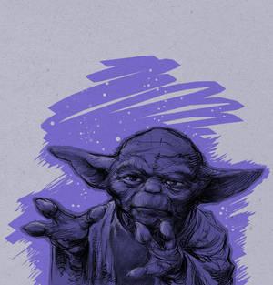 Stupid sketches - Purple Yoda
