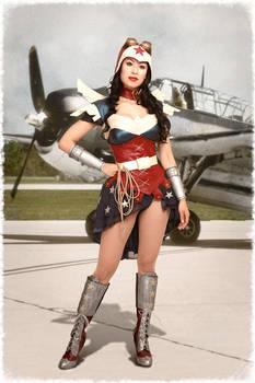 Steampunk Wonder Woman Cosplay Costume
