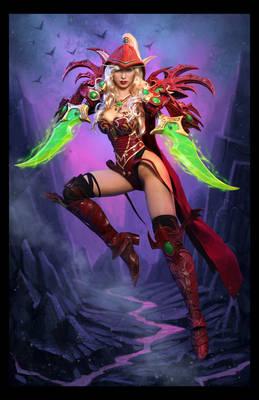 Valeera Sanguinar Blood Elf Cosplay Hearthstone